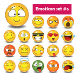Set of emoticons N6