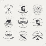 barber shop logo set - 112463718