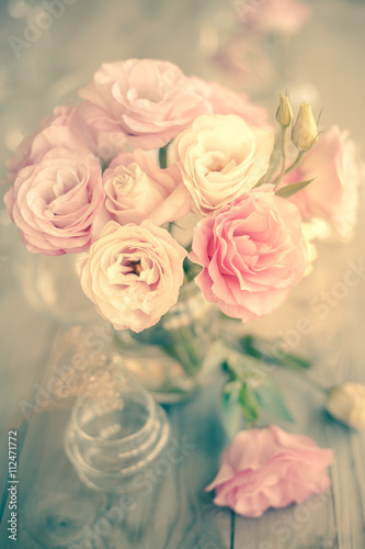Obraz Vintage Bouquet of beautiful pink flowers