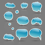 The vector set of glamour bubbles template ready for a text insert