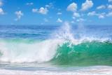 Fototapety Beautiful Waves in the warm Sea Water, Summer