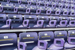 Purple Stadium Seats Angle View