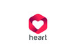 Heart Logo design vector Happy Valentines Day Infinity Love icon - 112486115