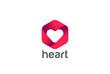 Heart Logo design vector Happy Valentines Day Infinity Love icon - 112486115