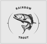 Fototapety Illustration of rainbow trout.