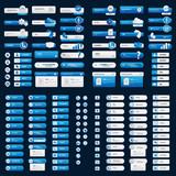 Business dark blue button set