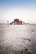 canvas print picture - stilt house at the beach II