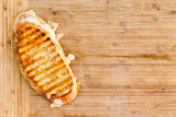 Fototapety Appetizing grilled panini bread cheese sandwich