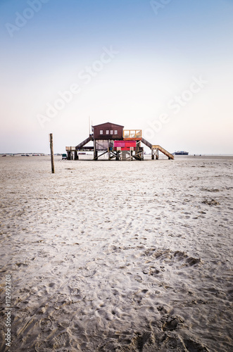 canvas print picture stilt house at the beach II