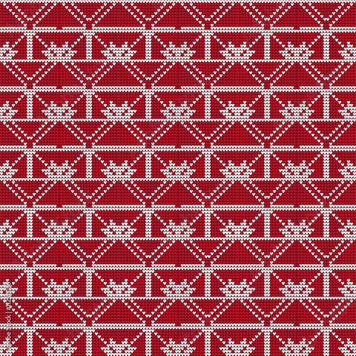 Fototapeta knitted pattern. vector illustration. for design, fashion
