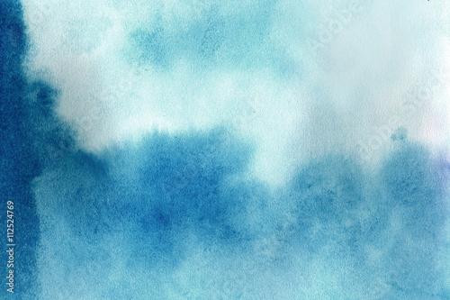 Blue grunge in watercolor - 112524769