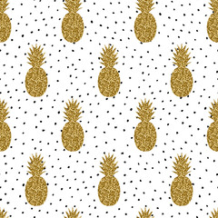 Seamless Pineapples Pattern