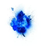 Blue explosion isolated on white background - 112562967