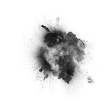 Black explosion on the white background