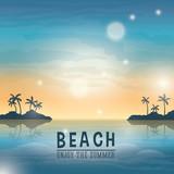 Beach design. Summer icon.  Colorful Illustration , vector