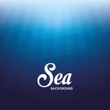 Fototapety Sea design. blue background. Colorful illustration , vector