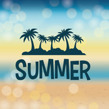 Summer time design. Vacation icon. Beach concept