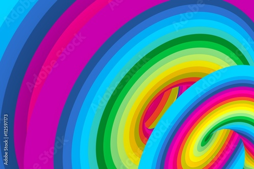 Obraz abstract colorful background 3d illustration