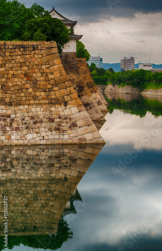 Poster Fortress walls of Osaka Castle, Japan