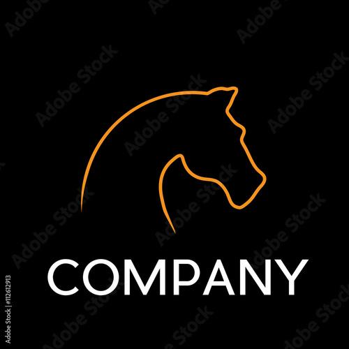 Vector sign horse in flat design