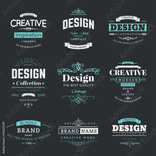 Retro creative vintage labels template and logo set vector design retro creative vintage labels template and logo set vector design elements business signs branding fbccfo Images