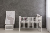 Bright and modern nursery for your baby girl