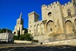 Popes Palace and cathedral in the historic centre of Avignon, France
