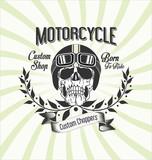 Fototapety Vintage motorcycle background