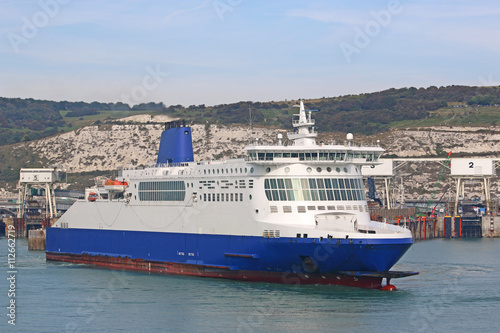Ferry leaving Dover Harbour Poster