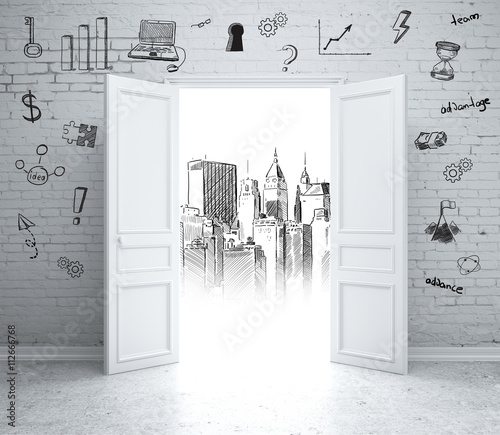 Fototapeta Business and architectural sketches