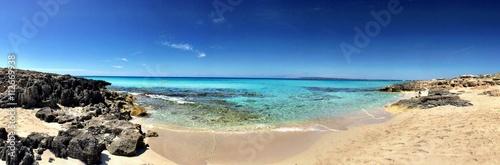 Cristal water in Formentera Spain beach