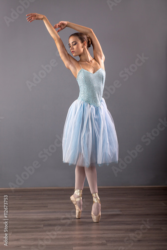 Vászonkép young ballerina in ballet pose classical dance