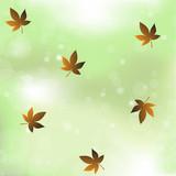 maple vegetation bokeh background,vector illustration.