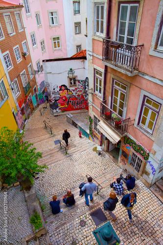 Lisbonne, ruelle du quartier de l'Alfama
