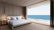 Bedroom take sea view - 3D render