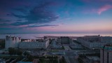 Time lapse shot of the St.-Petersburg Neva river, Vasilevsky Island Russia
