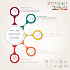 Infographics template for your design