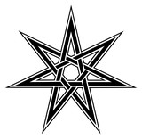 Fairy Star, elven star, heptagram, celtic knot