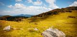 Panoramique concept randonnée et trekking en montagne
