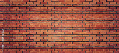 Plakat Red brick wall texture for background