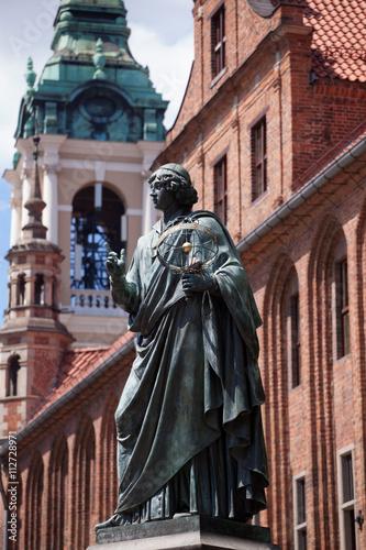 Fototapeta Monument of great astronomer Nicolaus Copernicus in Torun, Poland