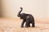 handmade wooden elephant close-up