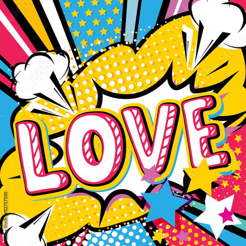 Póster Pop art Tipo de cita de amor