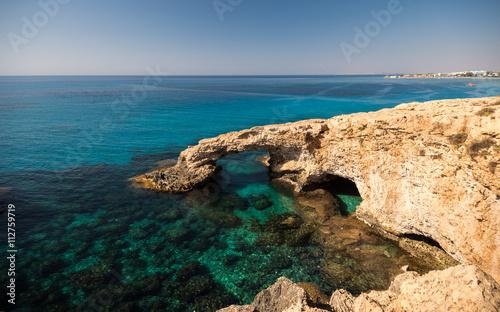 Foto op Plexiglas Cyprus Beautiful beach view. Beautiful natural rock arch in Ayia Napa on Cyprus island