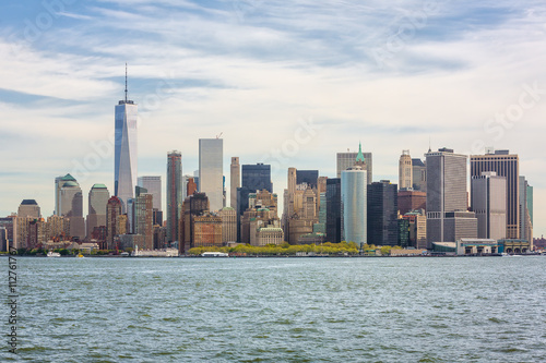 View of Manhattan skyline in NYC Poster
