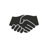 Handshake - vector icon.
