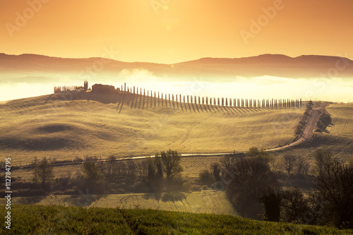 Beautiful morning in Tuscany, Italy