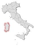 Map - Italy, Sardinia
