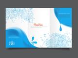 tree fold business brochure template