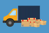 Delivery design. Shipping icon. Colorfull illustration, graphic